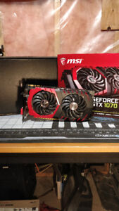 MSI GTX 1070 Gaming X  8G with box and receipt