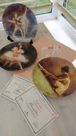 Collectors 'Passion of Dance' plates.