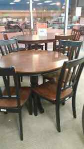 Ashley round dinette with 4 chairs $400