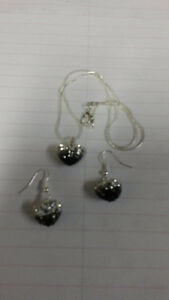 Just in time for Mother's Day - B&W Shamballa Pendant & Earrings