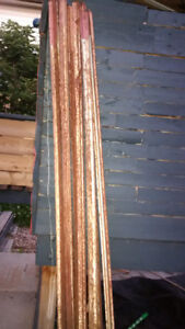 Used Snow Fence Posts  (9 7-foot Red Top T-posts)