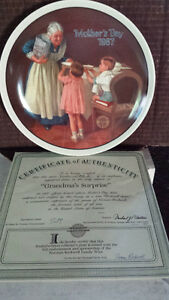 Bradford Exchange Collectible Plates - Norman Rockwell