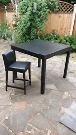 Ikea Bjursta High Table and single chair