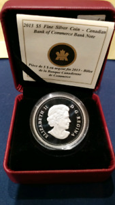 RCM 2013 Canadian Bank Note $5 Fine Silver Coin