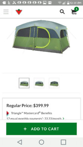 Coleman prarie trail 8 person tent