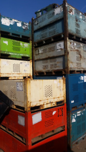 Stackable METAL BINS CONTAINERS CAGES MULTIPURPOSE