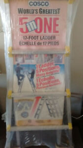 "1 X Cosco World's Greatest 5 in one 17"" foot ladder"