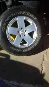 Jeep Rim and Bridgestone Dueler A/T 255/70R18 - NEW $150.00 OBO