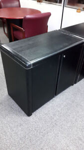 Set of 2 black office cabinets / filing drawers