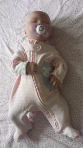 Reborn preemie baby with girl accessories
