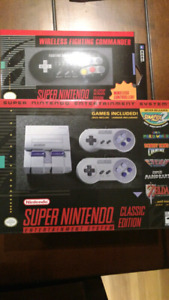 SNES classic edition nintendo mini and wireless controller