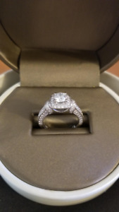 PRICE DROP!  DIAMOND ENGAGEMENT RING - CHARMED BY RICHARD CALDER