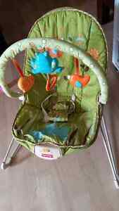 vibrating or bouncy chair