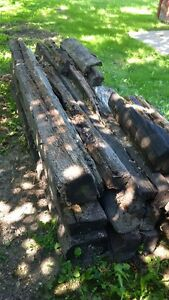 8+ Railroad Ties Rough Shape- good for split rail Fence Windsor Region Ontario image 2
