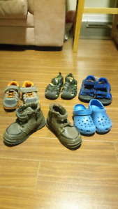 Shoes for small boy (toddler/preschooler) - size 8 - 9.