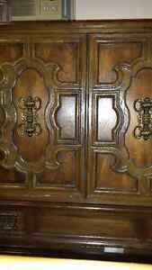 Large Solid Wood Dresser Wardrobe