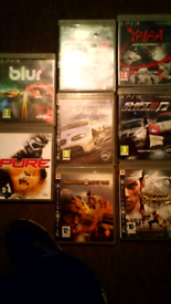 8 ps3 games job lot £30 or take your pick offers