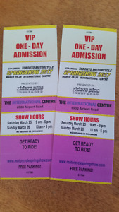 VIP tix to Toronto Motorcycle Show - Parking included