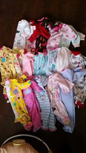 0-3 month girl sleepers