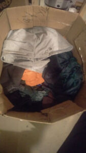 A box of womens clothes