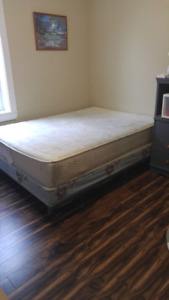 Double box spring and mattress for sale