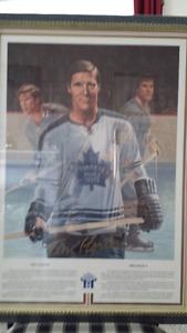 Tim Horton Hockey Picture Framed