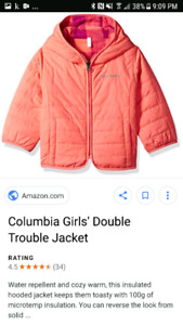 3T columbia fall jacket for toddler girl reversible