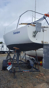 J24 Sailboat with trailer- Good condition