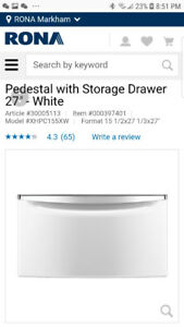 Whirlpool washer/dryer pedestal