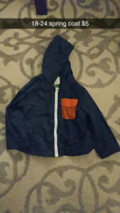 18-24 month boy clothes and spring coat