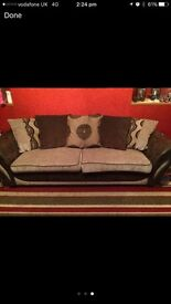4 seater and 2 seater sofa