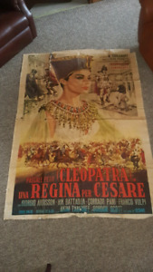 Large 1960s Cleopatra movie poster...4 x 6 feet