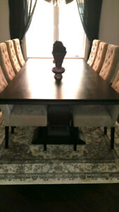 Formal Wood Large Dining Table 8x4 Feet