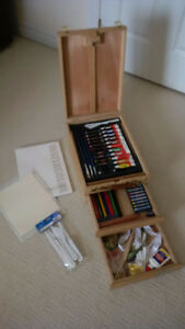 Easel and artist supplies