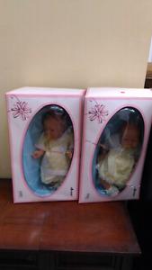 Two Newborn Jesmar Dolls