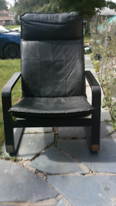 Two Ikea leather recline chairs. No wear, tears, or worn on leat