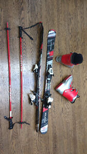 Youth Ski Package (Skis, Bindings, Boots and Poles)