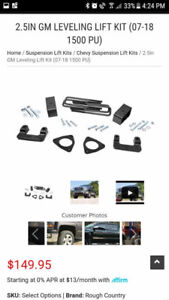 07 to 18 2.5 Rough Country lift kit brand new