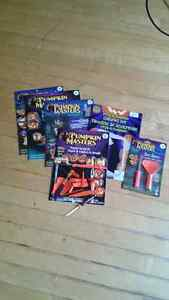 Brand new carving kit and five books