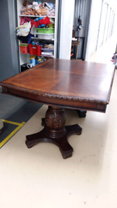 Beautiful Dining Table with Matching Armoir