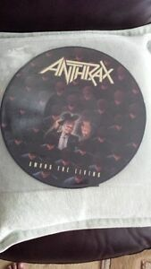 ANTHRAX AMONG THE LIVING PICTURE DISC VINYL !