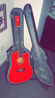 Washburn Red Acoustic/Electric *JUST LIKE NEW*