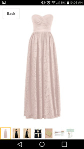 Blush prom bridesmaid gown
