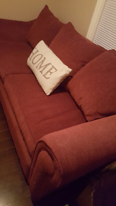 Red hide a bed couch