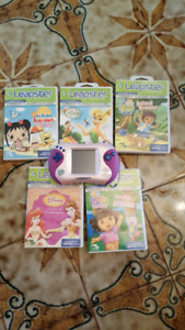 Leap Frog Leapster 2 console and 5 English games.