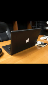 Barely used Apple MacBook special black edition
