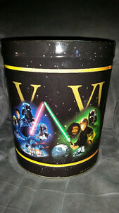AWESOME LARGE STAR WARS METAL CANS SHOWS ALL 6 MOVIES!!!!!!!!!!! London Ontario image 1