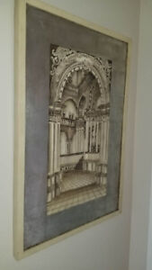 Unique carved picture of Cathedral interior.