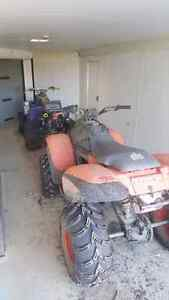 2 quads for sale (trade for side x side or sled)
