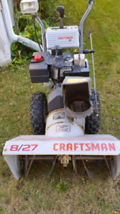 """CRAFTSMAN 2 SNOWBLOWER 8HP 27"""" WITH electric starter"""